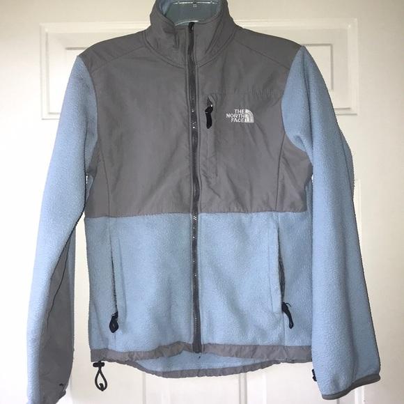 64aafa5ed Light Blue Fleece North Face Jacket!
